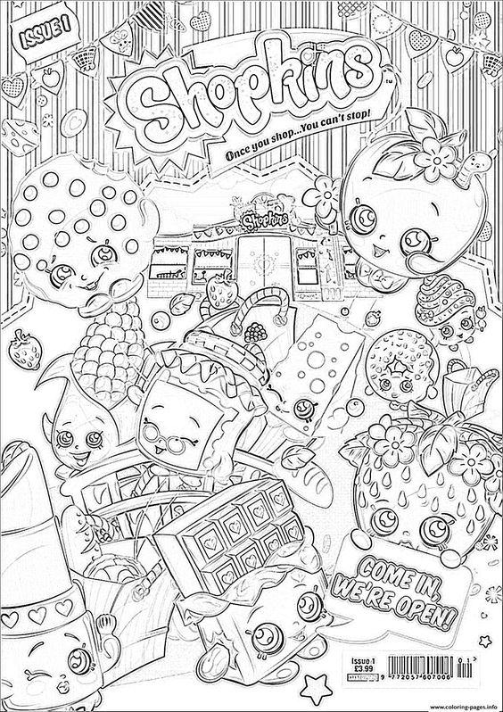 Print Shopkins We Are Open Coloring Pages Shop Pinterest