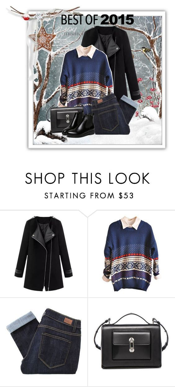 """""""2015..."""" by irina-balerina0909 ❤ liked on Polyvore featuring Paige Denim, Balenciaga and WithChic"""