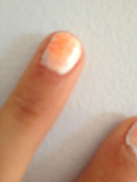 White background and orange lines