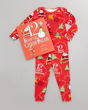 Books To Bed Boy 12 Days of Christmas Pajamas and Book Set, 12-18 ...