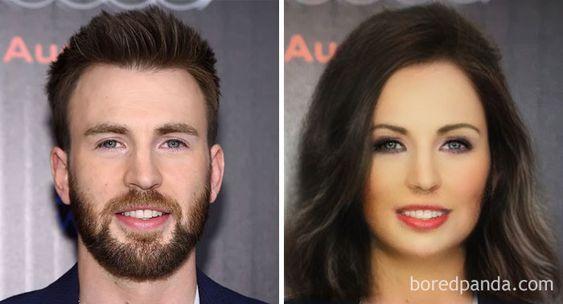 Gender-Swapped Snapchat Filter Chris Evans