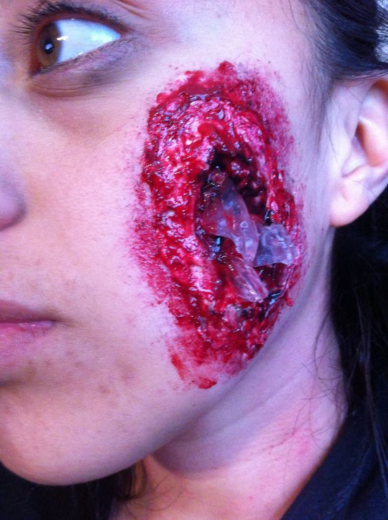 Deep wounds with shards of glass! : Makeup - General ...