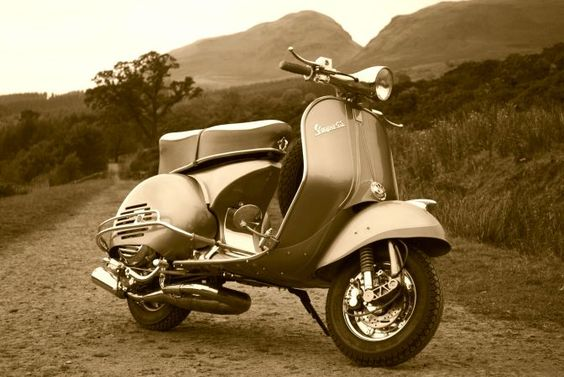 Scotland... I'm on my way. (I may need a Vespa with a bigger engine though).