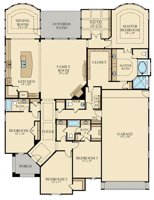 Victoria New Home Plan In Woodtrace Classic And Kingston Collections By Lennar New House Plans House Plans Dream House Plans