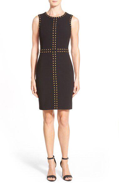 Halogen® Halogen® Studded Sheath Dress (Regular & Petite) available at #Nordstrom