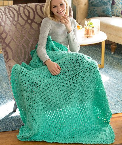 Comforts of Home Throw Free Crochet Pattern in Red Heart ...