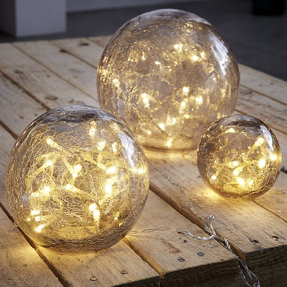 boules lumineuses id e d co noel. Black Bedroom Furniture Sets. Home Design Ideas