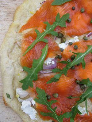 Au gré du marché: Pizza au saumon fumé et au fromage à la crème