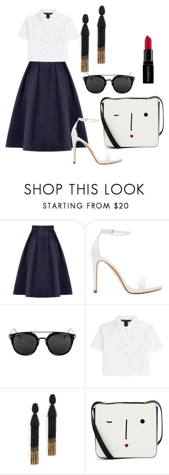 """Untitled #451"" by amnatariq ❤ liked on Polyvore featuring Coast, Zara, Marc by Marc Jacobs, Oscar de la Renta, Lulu Guinness and Smashbox"
