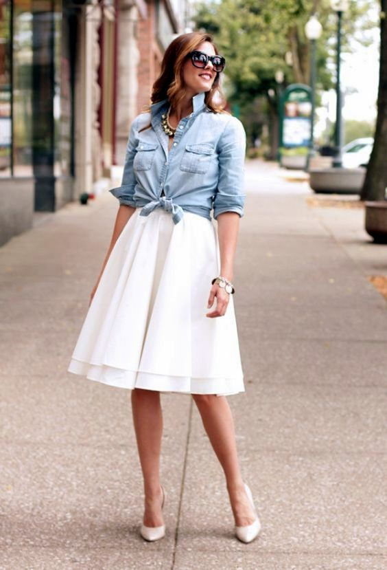 25 Killing Styles To Wear Chambray Shirt Outfits: