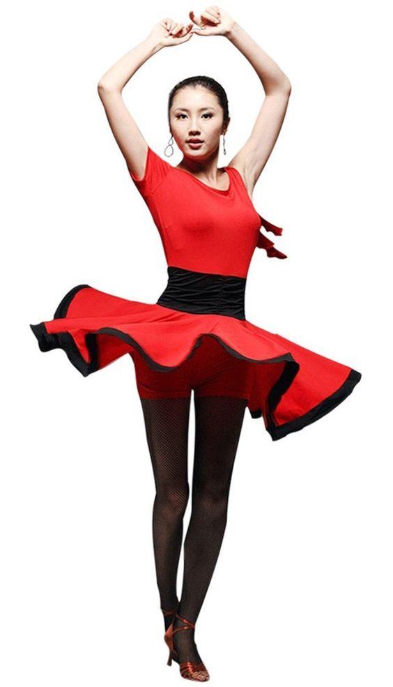 Amazon.com: Faship Womens Black Red Ballroom Latin Tango Rumba Cha Cha Samba Dance Dress: Clothing
