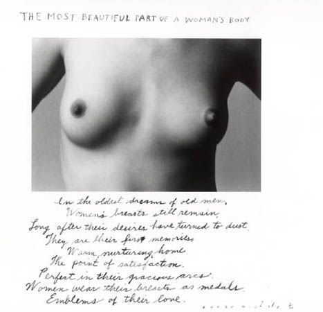 The most beautiful part of a woman's body, 1986 © Duane Michals