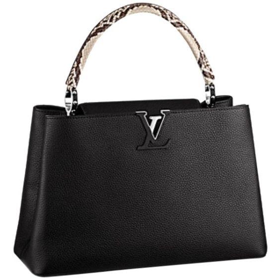 сумка Louis Vuitton Capucines купить : Pre owned louis vuitton capucines mm black baguette