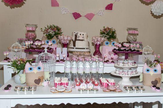 20 ideias de decoração de chá de bebê menina