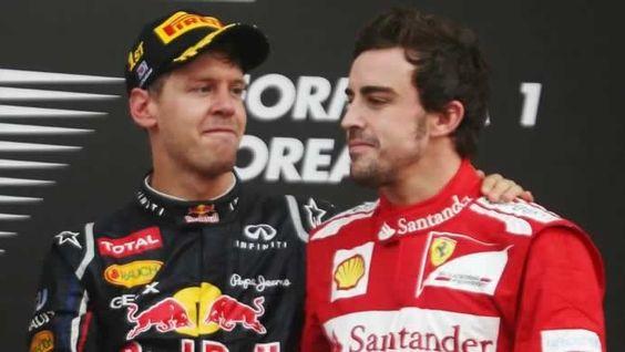 Vettel, Alonso, Rosberg, Webber, e Hamilton. Massa é sexto e já está colado nas Mercedes