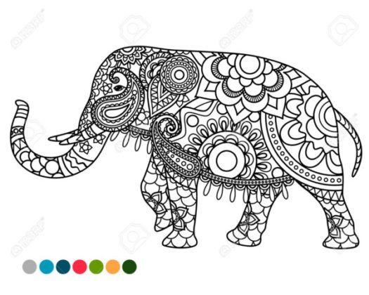 Disenos De Elefantes Hindues En Mandalas Significado Y Dibujos Para Descargar Mandalas Elefante Mandala Libro De Colores Diseno De Elefante