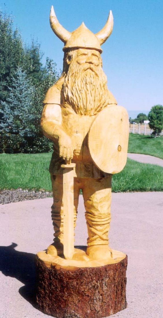 Chainsaw carvings and vikings on pinterest