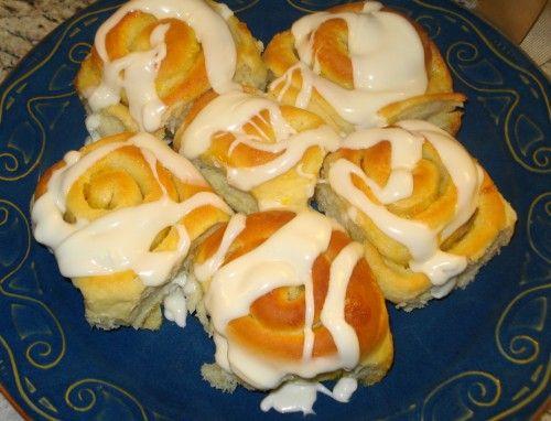 Orange Rolls with Cream Cheese Icing