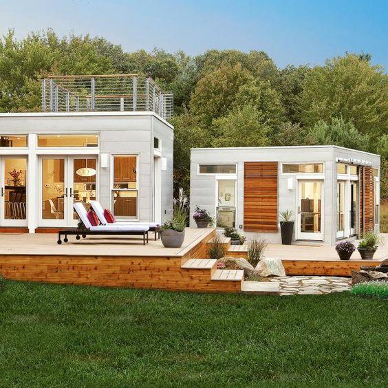 Modular homes, Decks and Garage on Pinterest