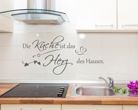wandtattoo wandspruch küche herz haus wandsticker | produkte und haus