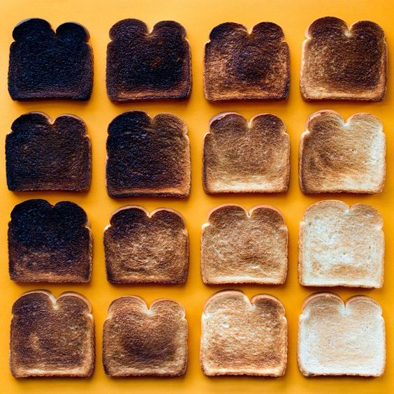 Still life food photo | Toast | Foods in Colorful Gradients | Colossal