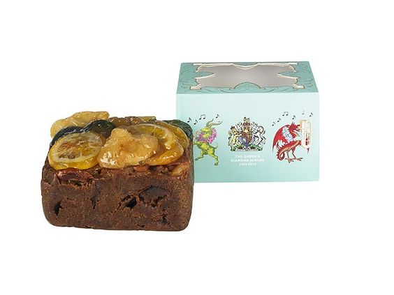 What's a Diamond Jubilee celebration without cake ... fruitcake? See more fun Jubilee souvenirs here: http://www.people.com/people/package/gallery/0,,20395222_20600927,00.html
