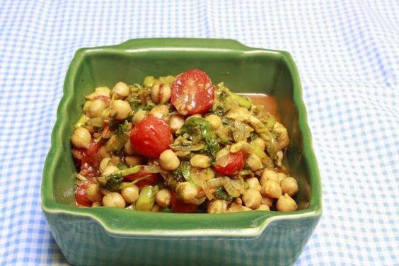 Bombay-Bruxelles: Channa Kulfa ki Subzi - Sauté de pourpier aux pois chiche - Purslane and chickpea curry