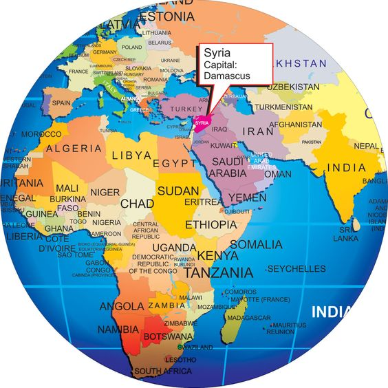 Where is Syria on the Globe Larger View – Syria Map World