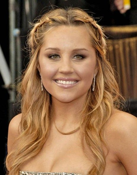 Excellent Curly Braided Hair Half Updo Hairstyles And Amanda Bynes On Pinterest Hairstyle Inspiration Daily Dogsangcom