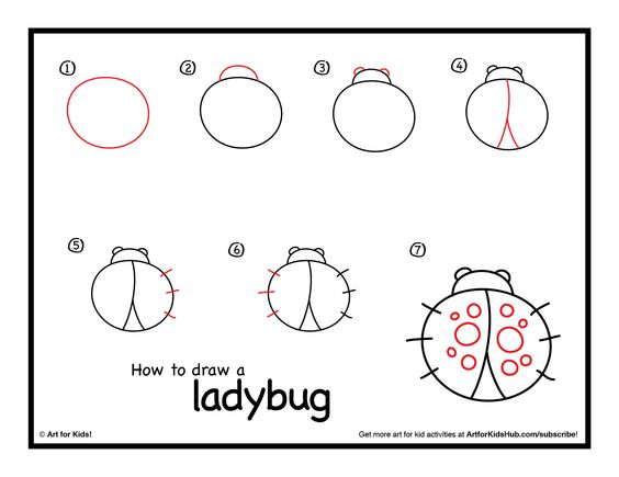 How To Draw A Ladybug Art For Kids Hub Mariquitas