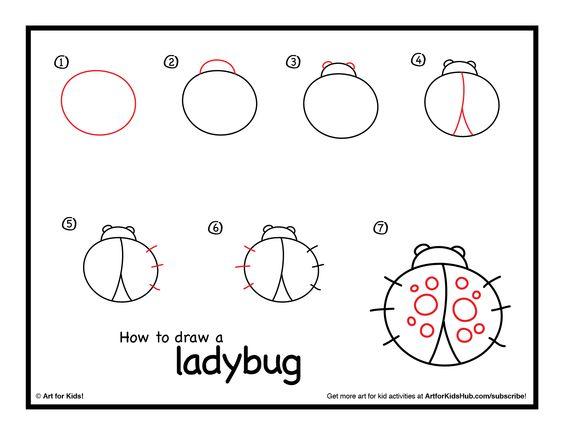 How To Draw A Ladybug Art For Kids Hub Mariquitas