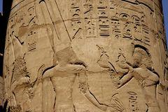 Egyptian hieroglyphs Royalty Free Stock Photo