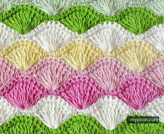 Crochet Stitches Shell Instructions : by step crochet patterns the stitch shells fun free pattern colors ...