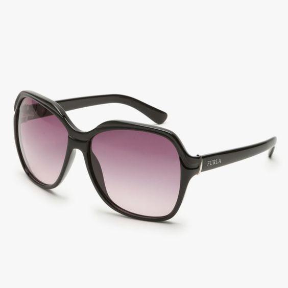 Furla Reo Giglio Sunglasses In Onyx & Purple featured in vente-privee.com