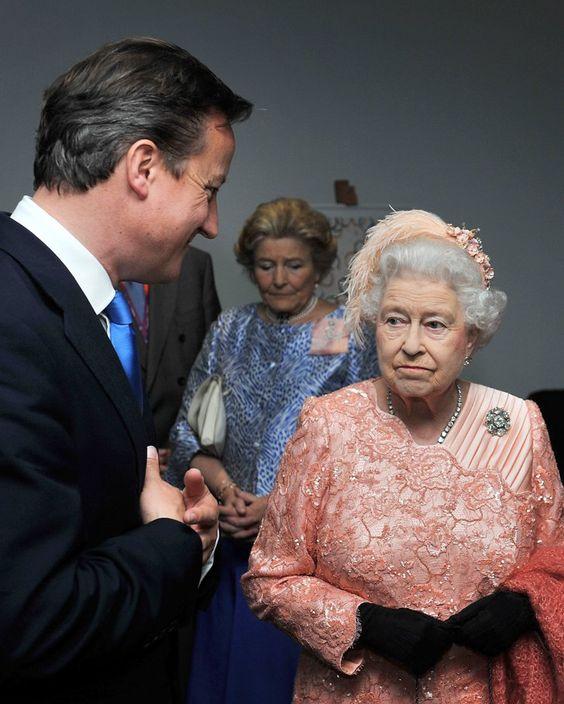 Pin for Later: Elizabeth II d'Angleterre: le Guide de Ses Nombreuses Expressions Faciales Quand David Cameron Ne Veut Pas Arrêter de Parler
