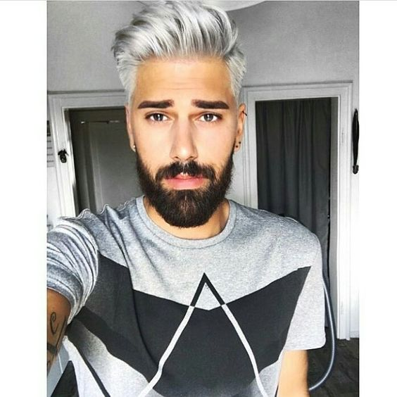 Is the Gray Hair for Men Trend Here to Stay? | Silver Hair and Dark Beard | Hairstyle on Point