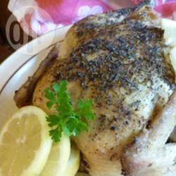 Photo de recette : Poulet au citron et au poivre, à la mijoteuse