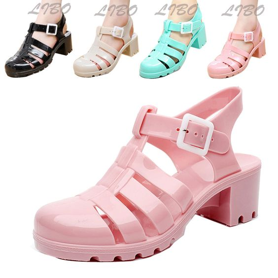 >> New Womens High Wedge Heels Retro Jelly Fisherman Sandals Summer Gladiator Shoes. Package includes: 1 x Women Shoes.