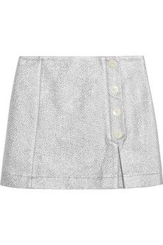 Maison Kitsuné Metallic cotton-blend cloqué mini skirt    NET-A-PORTER