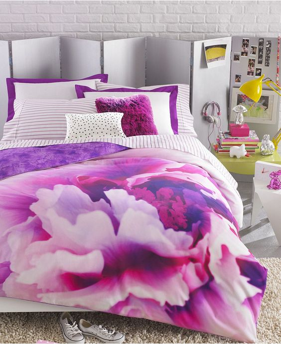 Creative Bedrooms That Any Teenager Will Love: Teen Vogue Bedding, Violet Comforter Sets