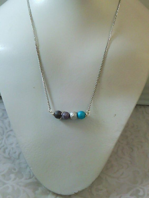 20% off all Handmade Jewelry! Use HEARTS at checkout! Handmade Wire Wrapped Stardust Bead Necklace  Teal by SkullMoto, $13.00