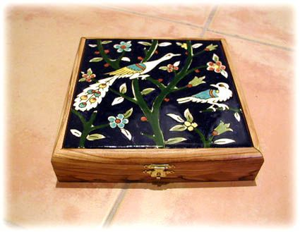 Box with ceramic lid from Palestine