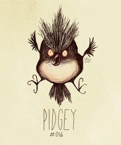 Pidgey tim burton