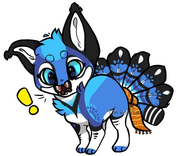 Blue jay foxfan by Chiropterabyte.deviantart.com on @DeviantArt