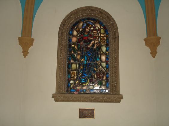 Stained Glass Window in the Dennison Library, Scripps College - Pomona, CA