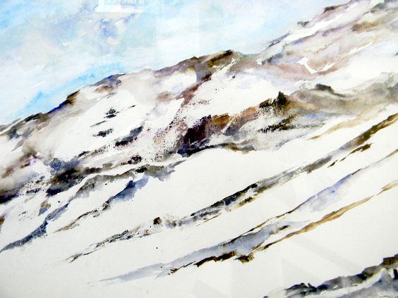 """""""Cerro Nevado""""by Suan Arte - Acuarela sobre papel 227x210"""