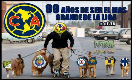 -El día de ayer el club América celebró su aniversario 99 y los aficionados no dejaron pasar el momento para realizar divertidos memes