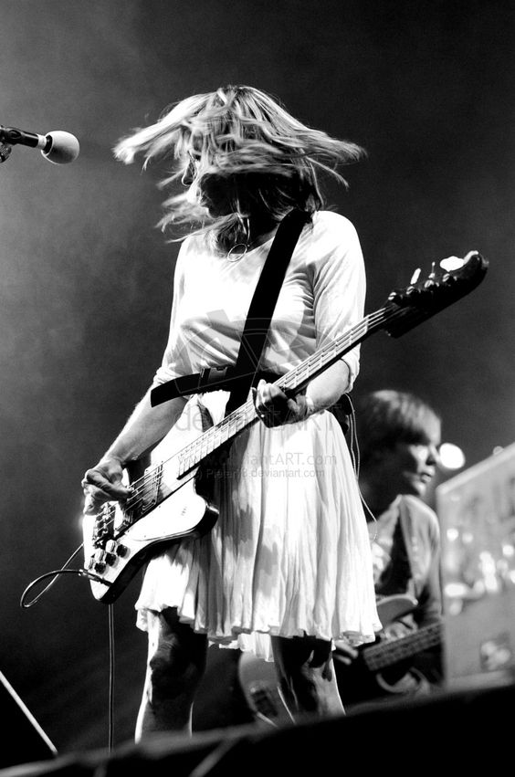 Shredding a bass in a dress = instant style icon. I love you Kim Gordon! You are the ultimate bad-ass bitch!!!
