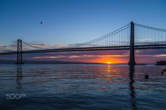 Dancing Colors - A view of Bay Bridge during sunrise