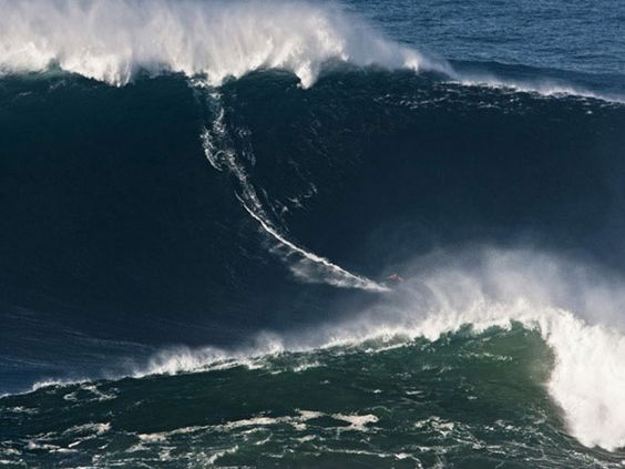 Surfer sets world record off coast of Portugal